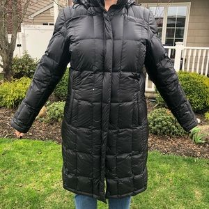 The North Face women's long down jacket